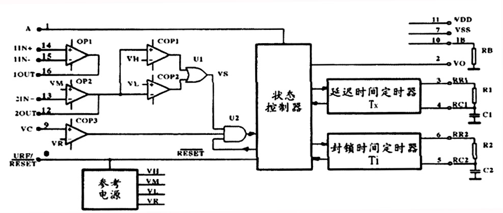 它配以热释电红外传感器和少量外接元器件构成被动式的热释电红外开关
