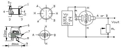 气体传感器/柔性压力传感器